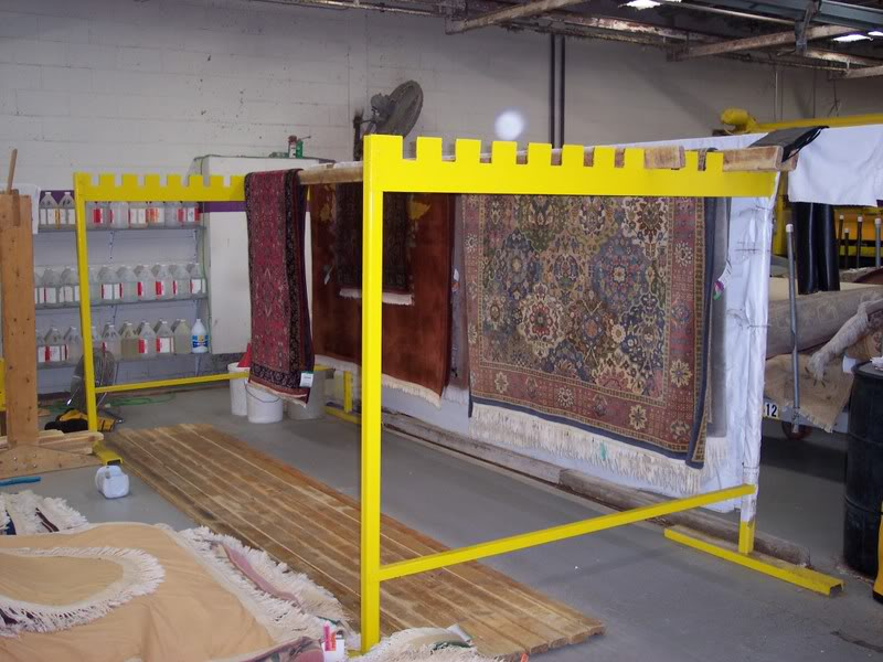 The Ez Tower Rug Drying Rack For Carpet Cleaners Mikey S