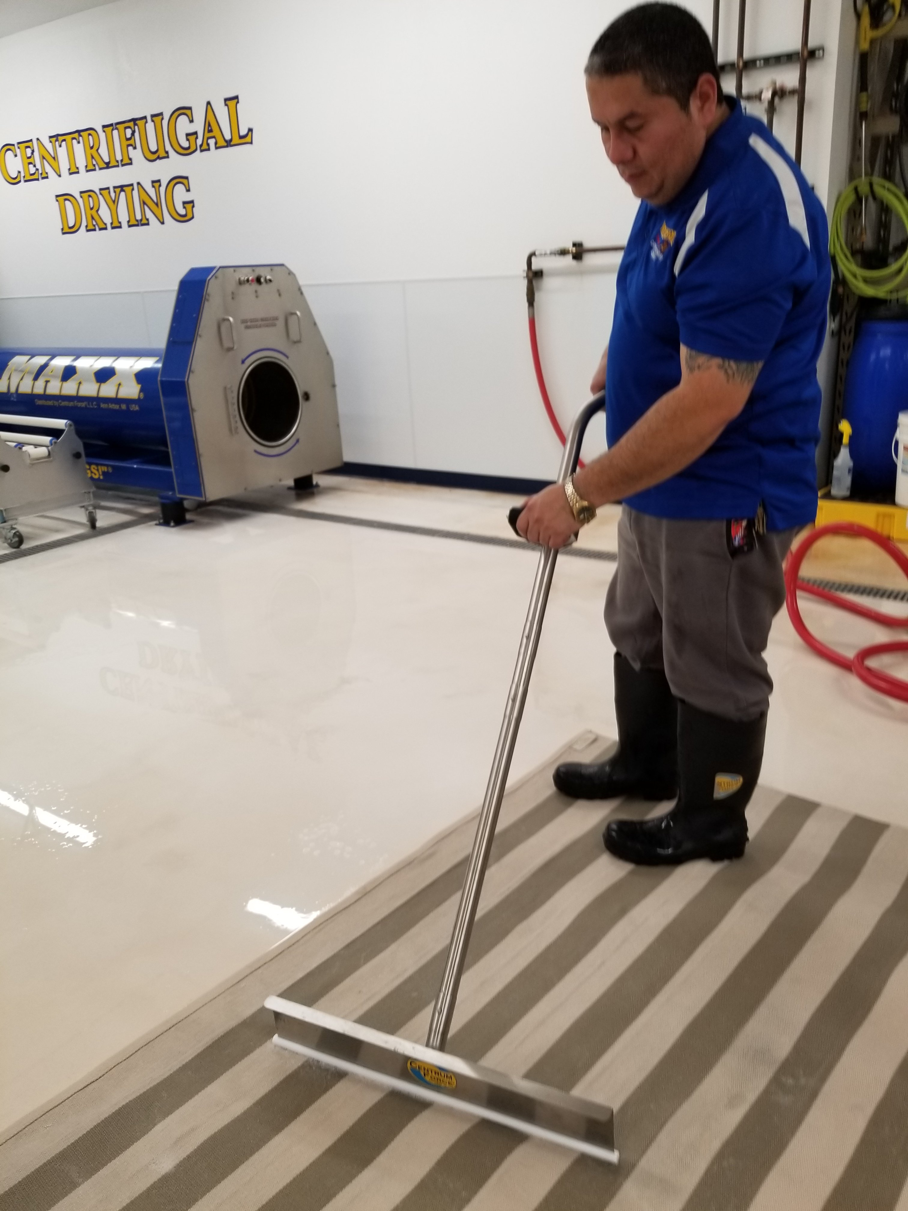 Squeegee for rug washing | Mikey's Board