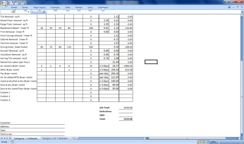 Water damage invoice, | Mikey's Board