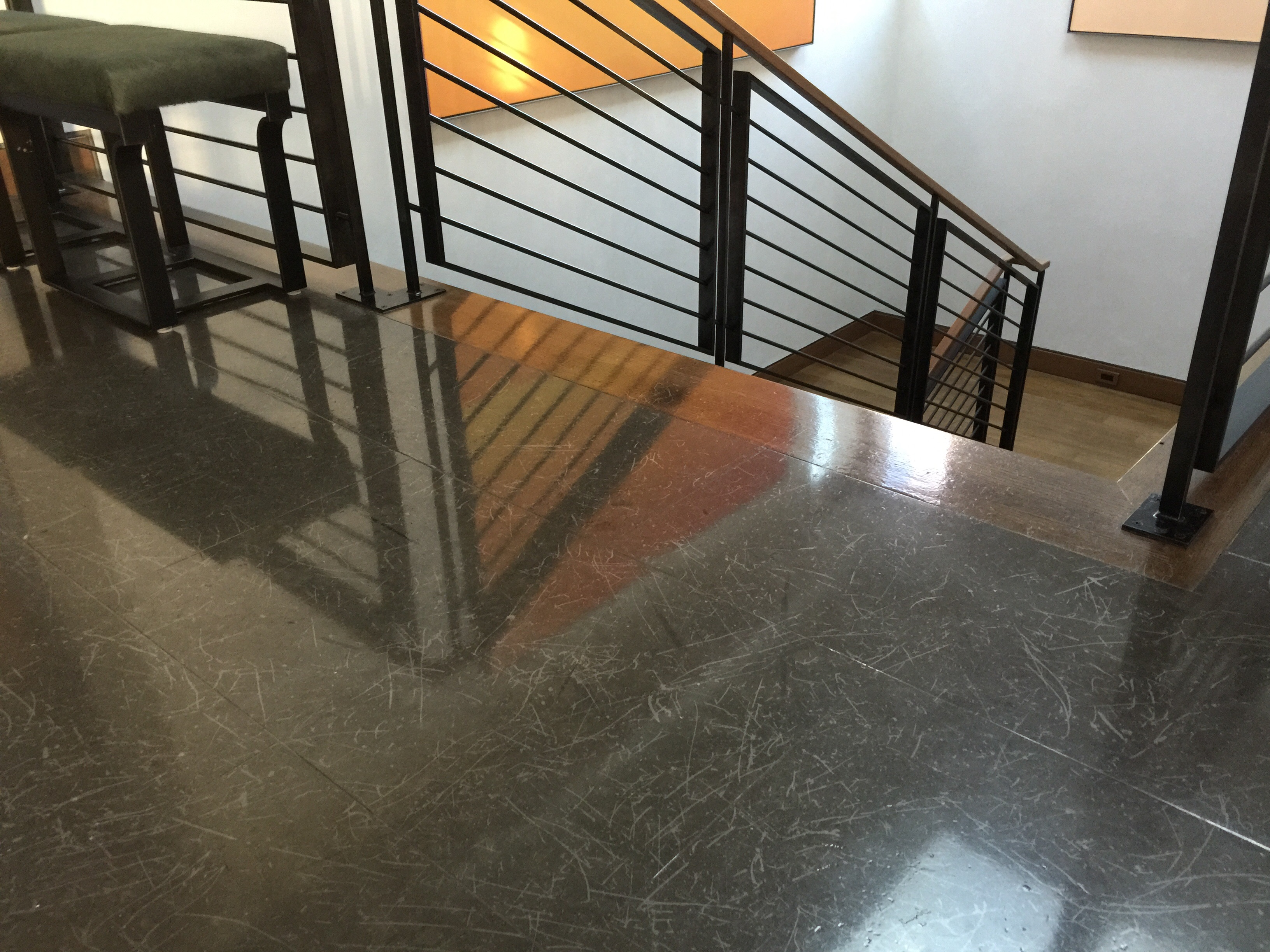 Terrazzo Floor With Several Years Of Mopping Glow Mikey S