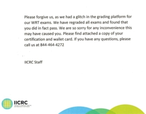 IICRC! Completly Unacceptable!